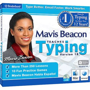 Mavis Beacon Teaches Typing, Version 18 Found at Wal-Mart, Office Depot, or online, my children loved learning keyboarding skills with Mavis Beacon software.  Great for adults too.  Timed typing tests and different levels of difficulty.