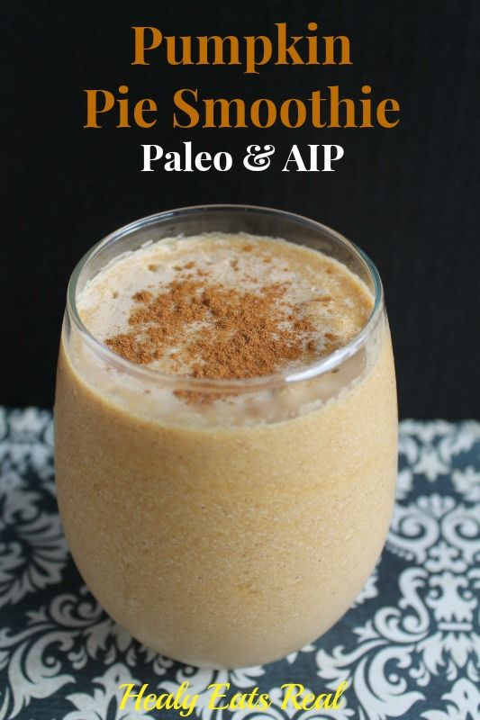 Pumpkin Pie Smoothie- AIP, Paleo & High Protein @ Healy Eats Real