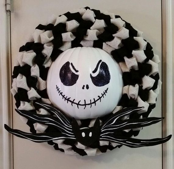 Halloween Wreath, Nightmare Before Christmas Wreath, Jack Skellington Wreath,Burlap Wreath, Beware of the Pumpkin King, Pumpkin King Wreath