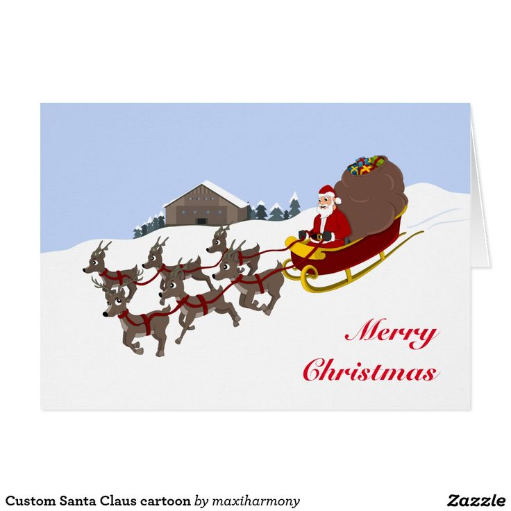 Custom Santa Claus cartoon Card