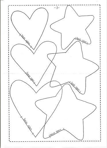 Heart stars templates