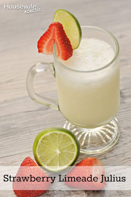 Housewife Eclectic: Strawberry Limeade Julius + Blendtec Giveaway. This fantastic drink recipe is made in minutes in your blender.