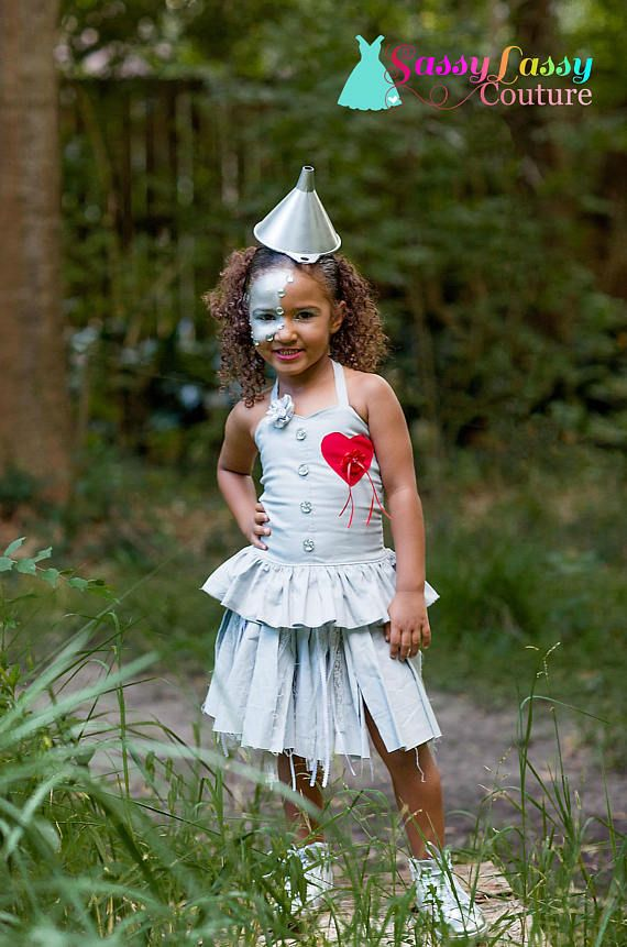 Tin Man Costume Wizard of Oz Inspired Costume Girls Tin Man