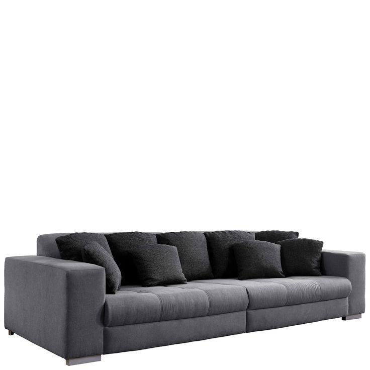 Big Couch Mit Schlaffunktion Im Wohnzimmer BIG Ontario Sofa Microfaser Grau Jetzt Bestellen Unter Moebelladendirekt