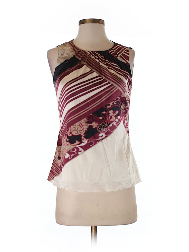 Elie Tahari Women Sleeveless Silk Top Size XS