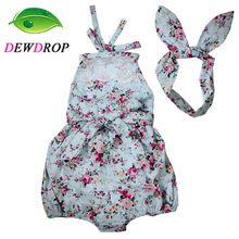 (Dewdrop) rose bloemen gedrukt baby romper, vintage baby meisjes playsuit, Lace Bloemen printes Baby Swag Rompertjes baby meisje kleding(China (Mainland))