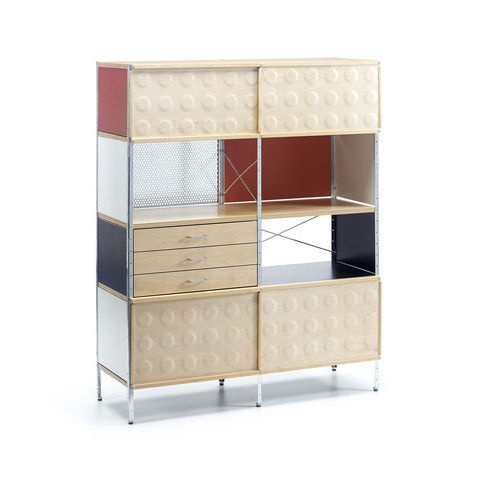 design bookcase by Charles & Ray Eames EAMES STORAGE UNIT - ESU VITRA HOME