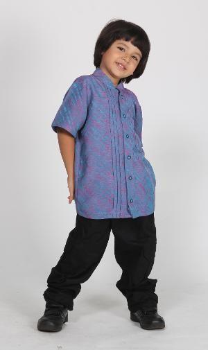 Baju Muslim Anak Koko Majma Kids 4 Biru - SALE