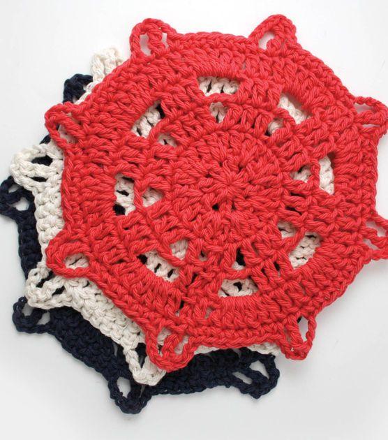 #DIY Nautical Dishcloth from Joann.comNautical Inspiration Dishcloth, Free Pattern, Free Crochet, Dishes Clothing, Ships Helm, Lilies Sugar, Helm Dishcloth, Crochet Patterns, Knits