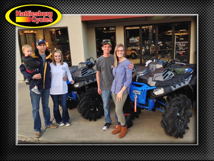 Thanks to Hayden, Dustin and Amber Weeks from Lake MS and Bryan and Brianna Spears from Philadelphia MS for getting two 2017 Polaris Sportsman XP 1000 High Lifters. @HattiesburgCycles