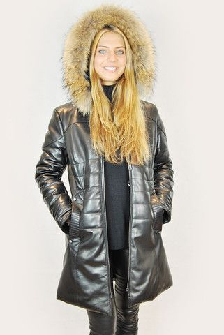 VENT COUVERT MONTREAL BLACK 3/4 LEATHER PUFFER