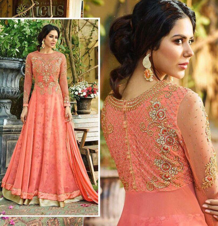 Anarkali Salwar Kameez Wedding Party Wear Embroidered Womens Suit Freeship Dress #Shoppingover #SalwarKameez