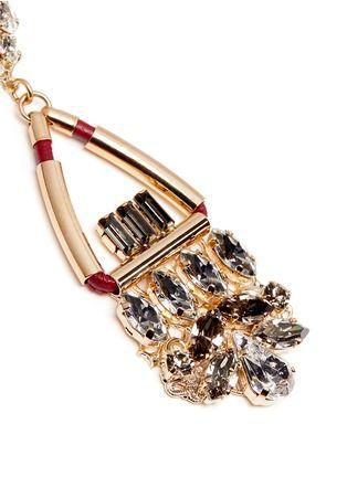 Winter 2016: Anton Heunis Swarovski crystal glass stone leather cord chandelier earrings
