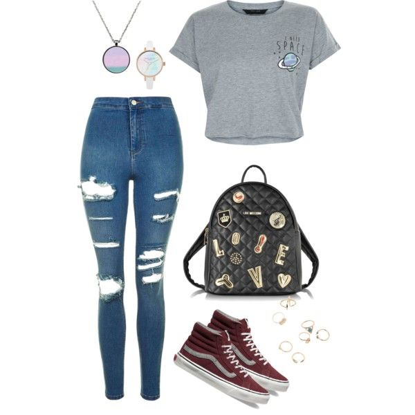 A fashion look from August 2016 featuring New Look t-shirts, Topshop jeans and Vans sneakers. Browse and shop related looks.
