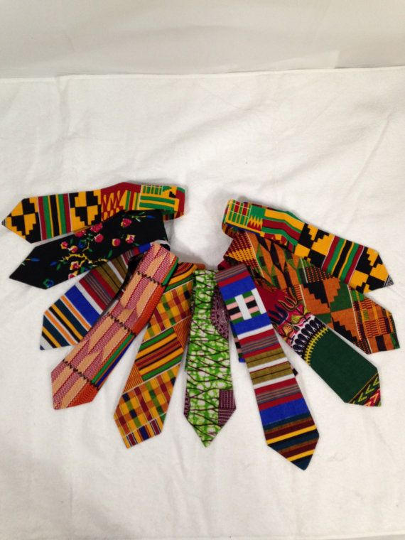 Ankara NeckTie/ Kente/ Men Clothing/ African by PFABdesigns