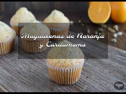 Recetas Básicas: Magdalenas de Naranja y Cardamomo con semillas de Amapola   Postres con estilo