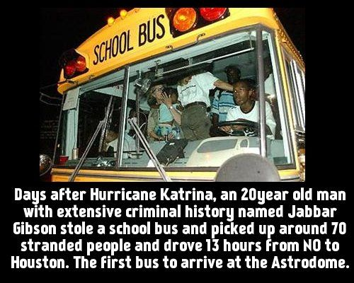 Days after Hurricane Katrina, a 20 year old man with ...