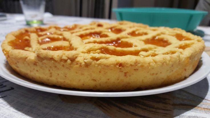 Crostata di marmellata di albicocche cotta con la mia multifry DeLonghi