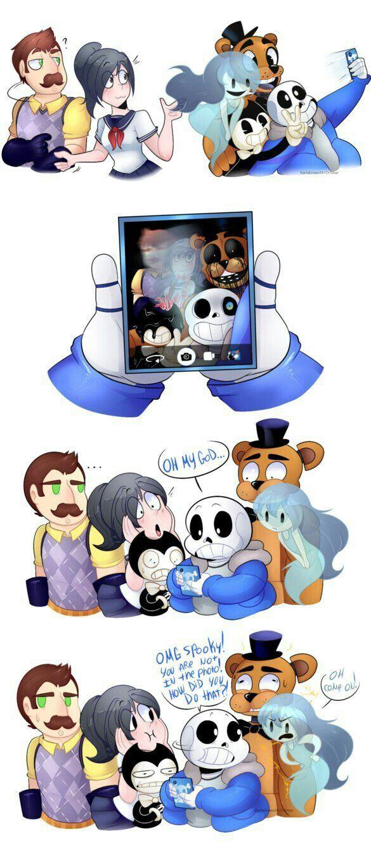 When you take a selfie | Fnaf | Fnaf, Funny comics, Yandere