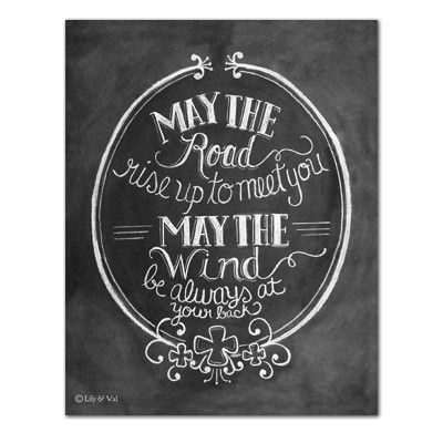 """Irish Blessing: """"May the Road Rise Up to Meet You"""" (Print)"""