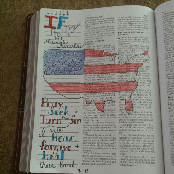 2 Chronicles 7:14. Bible journaling.
