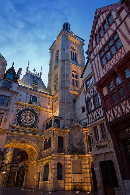 Rouen (Normandie), France: Photos, Spaces, Favorite Places, Rouen France, Travel, Architecture, Dusk