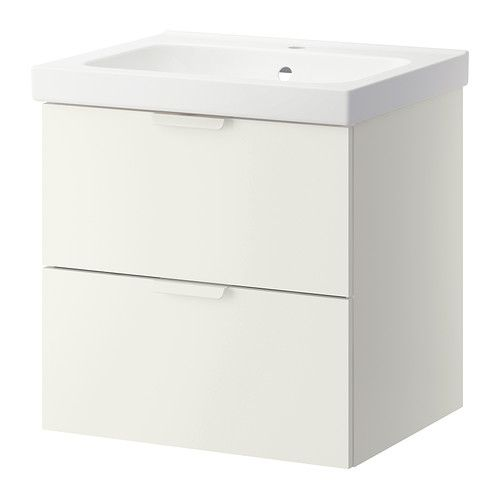 IKEA - GODMORGON/ODENSVIK, Sink cabinet with 2 drawers, white, 60x49x64 cm, , -main floor lil bathroom