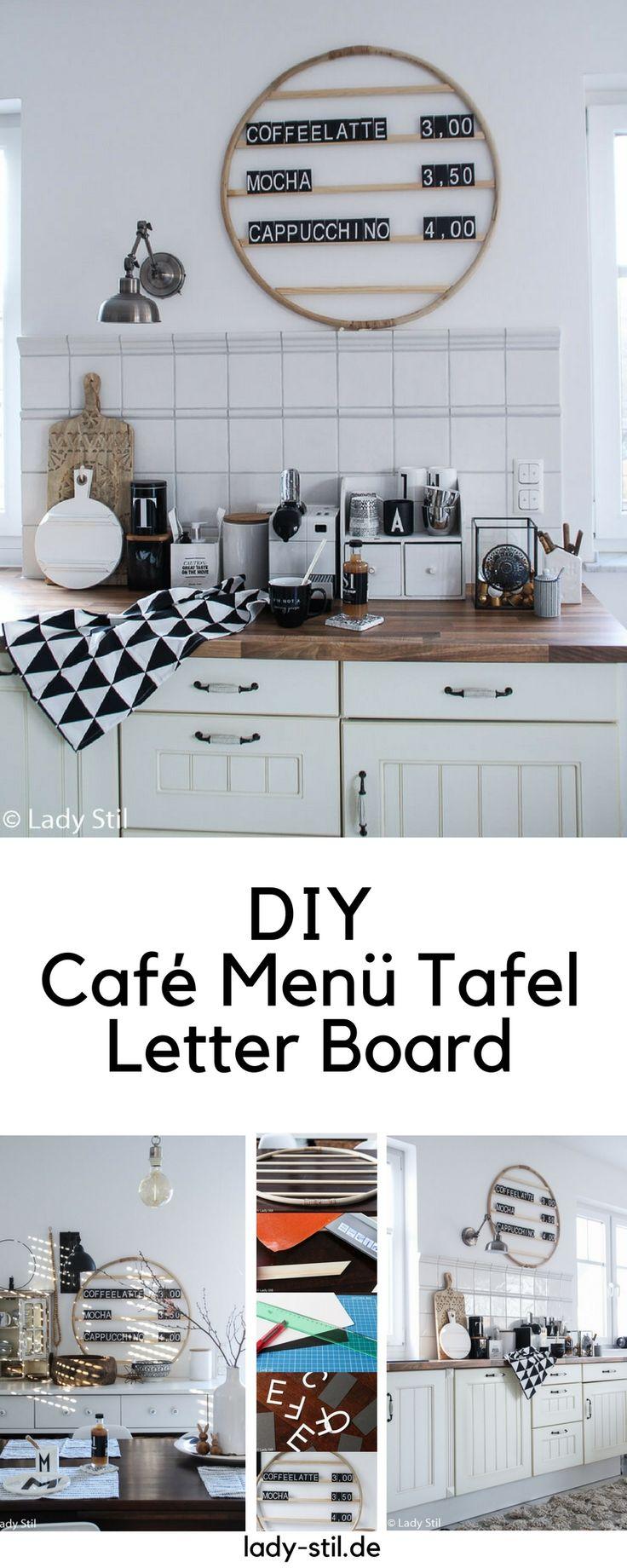 DIY Café Menü Tafel, Letter Board, ein Ikeahack oder einfach ein Upcacling für einen Hula Hoop Reifen! Ganz im Wiender Cafehaus Stil!