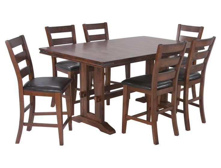 Marston Pub Set Table 6 Chairs By Jeromes Furniture SKU