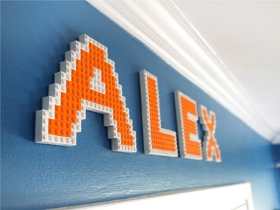 Lego letter wall art - creative!