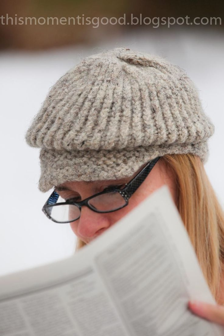Felted Hat Knitting Pattern : LOOM KNIT FELTED NEWSBOY HAT free pattern. Knit this cute hat in one evening!...
