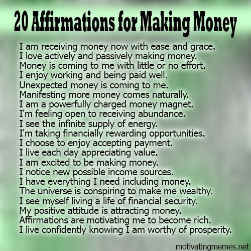 *$$$ 20 Motivating Affirmations for Making Money $$$...