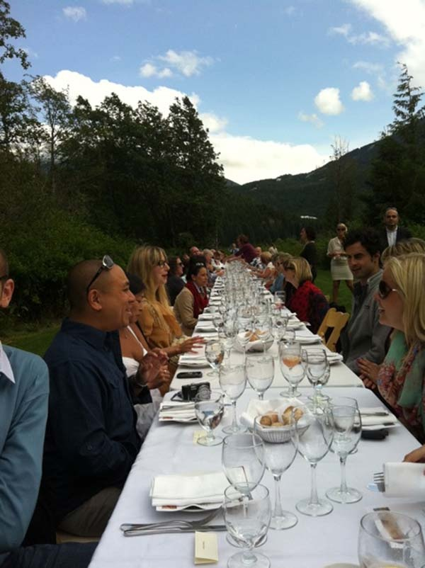 Araxi Longtable Dinner. We love Araxi here in Whistler!