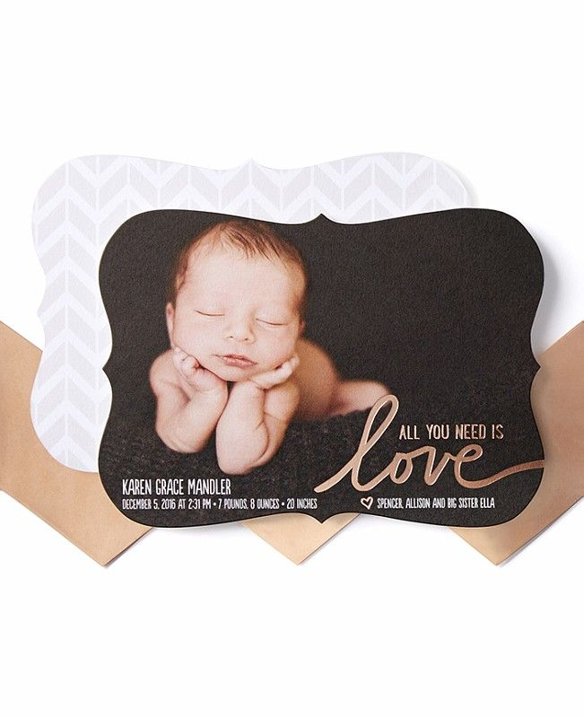 1000 images about Birth Announcements – Elegant Birth Announcements