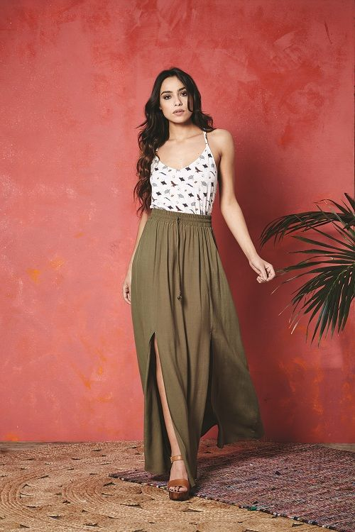 Valley of the Dolls Mars Sea Top and Tamiko Maxi Skirt