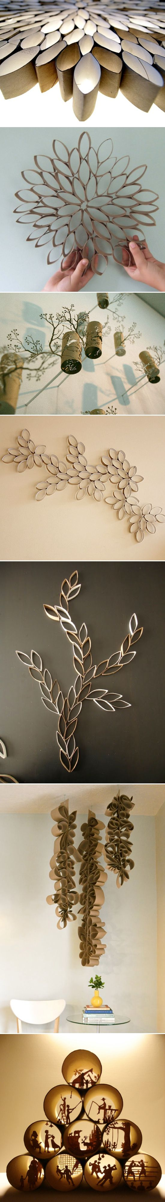 Toilet Paper Roll Crafting.....the bottom image is definitely something I would try. //Manbo