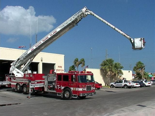 Fire Truck Engine Ladder South Padre Island Texas