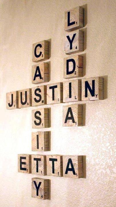 Scrabble Letter Decor