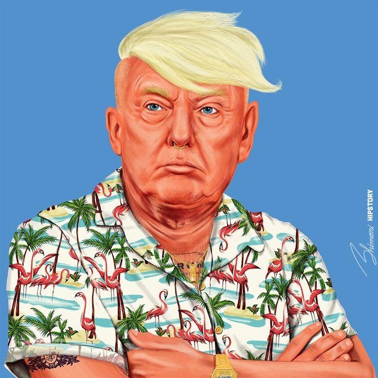 Hipstory - Trump, Amit Shimoni, Digital Illustration, 2016
