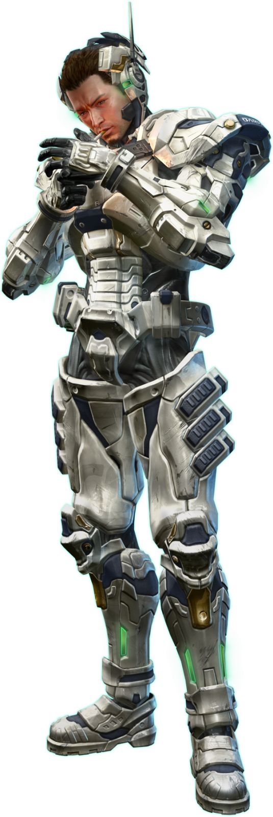 Shape of the forearm and head piece  Vanquish (PS3) – Review by Gorilla'T | Doohickey