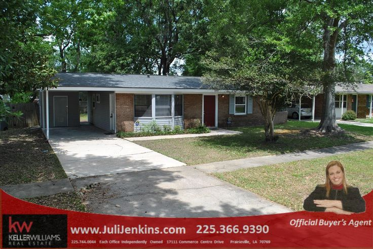 Come see this charming home with 3 bedrooms and 1 bath in Village St. George neighborhood. This one makes for a super starter home or investment property that is move-in ready. Home features low maintenance tile floor in most of the home and laminate wood flooring in the hallway. Call us 225-366-9390 or sign up on our website www.JuliJenkins.com