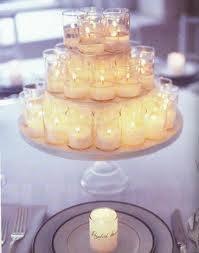 Votive Candle Centerpiece: Ideas, Candle Centerpiece, Wedding, Cakes Plates, Candles Centerpieces, Teas Lights, Cakes Stands, Diy Centerpieces, Center Pieces