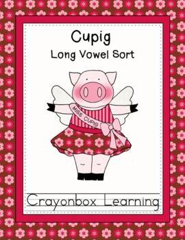Cupig Long Vowel Sort Learning Center - Freebie - Crayonbo