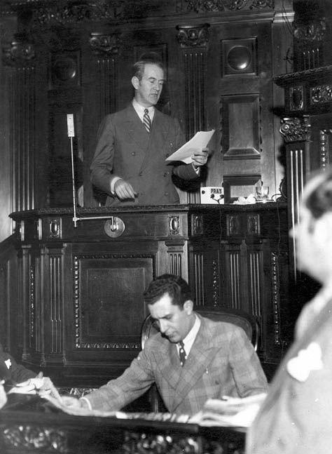 Discurso de Oswaldo Aranha na Assembléia Nacional Constituinte, 1934. Rio de Janeiro (RJ). (CPDOC/ OA foto 122)
