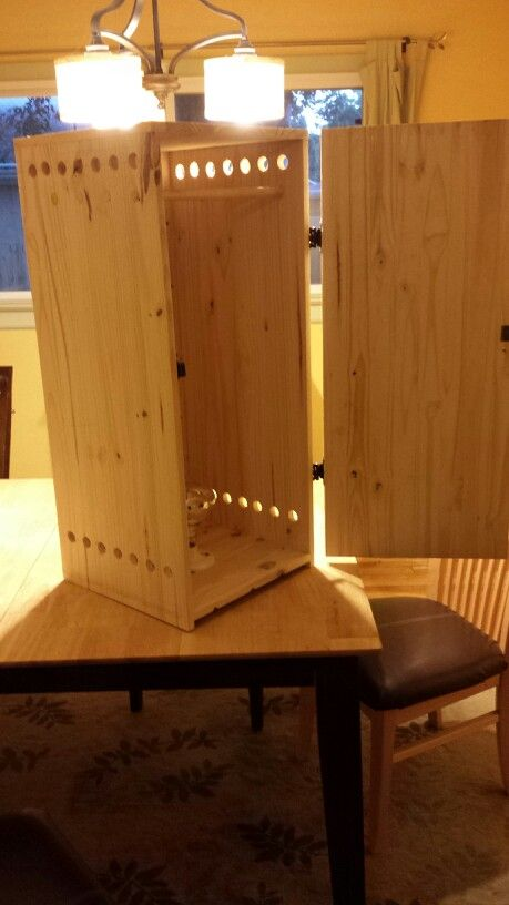 how to build a wooden smoker box