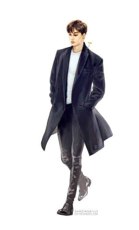 Beautiful Jongin(Kai) fanart ❤ (cr. to DANCINGBILLY@Kaithecosmos.com)