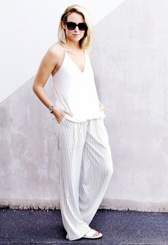 Тренд весны 2015 - полосатые брюки