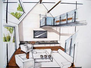 les 25 meilleures id es de la cat gorie dessin perspective sur pinterest dessin d architecture. Black Bedroom Furniture Sets. Home Design Ideas