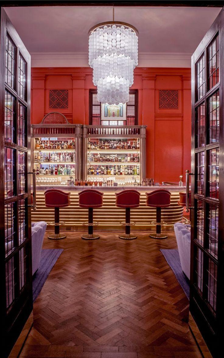 The Coral Room A Vibrant Grand Salon Bar Designed By Martin Brudnizki Bar Design Coral Room International Interior Design