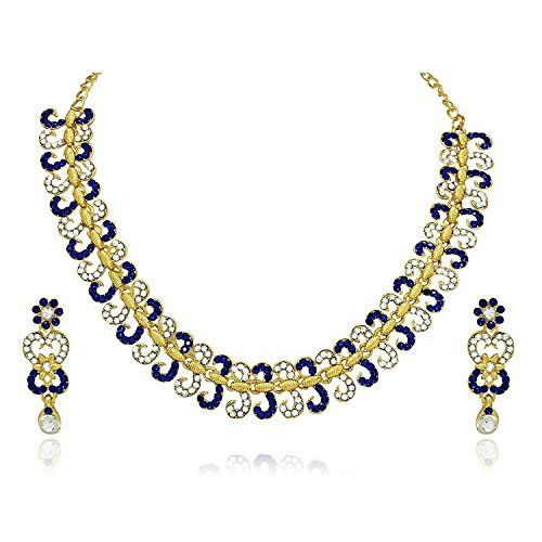 Indian Bollywood Wedding Wear Blue Stone Cz Gold Plated N... https://www.amazon.com/dp/B06Y5F3R5W/ref=cm_sw_r_pi_dp_x_ZUB7ybBNKM9R8